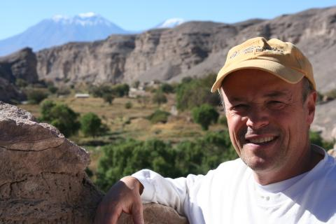 A satisfied client smiles in Chile
